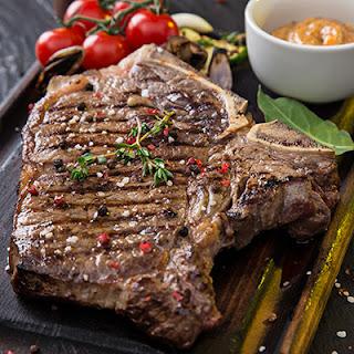 T-bone Steaks with Mushrooms.