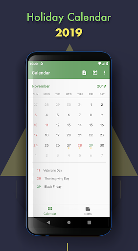 Holiday Calendar 3.2 screenshots 1