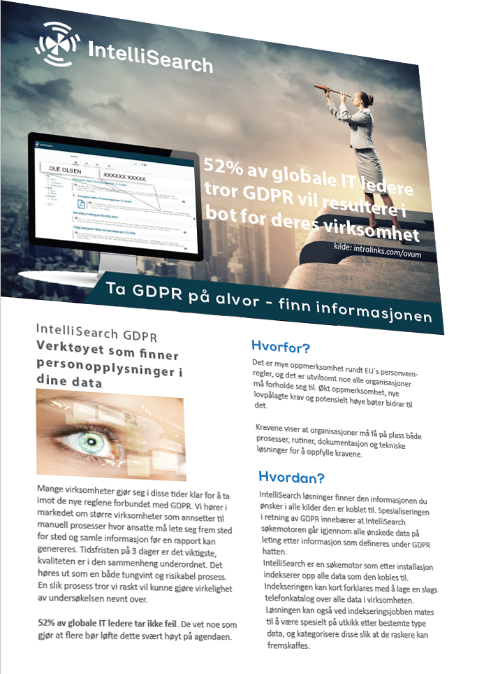 IntelliSearch GDPR