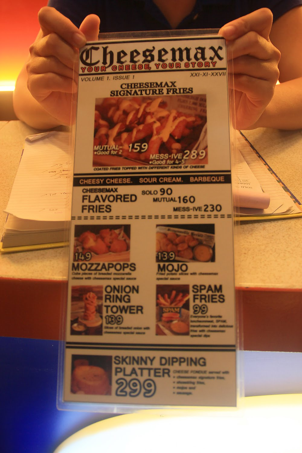 Cheesemax Menu