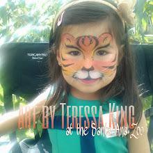 Photo: Tiger face paint by Teressa done at the Santa Ana Zoo.
