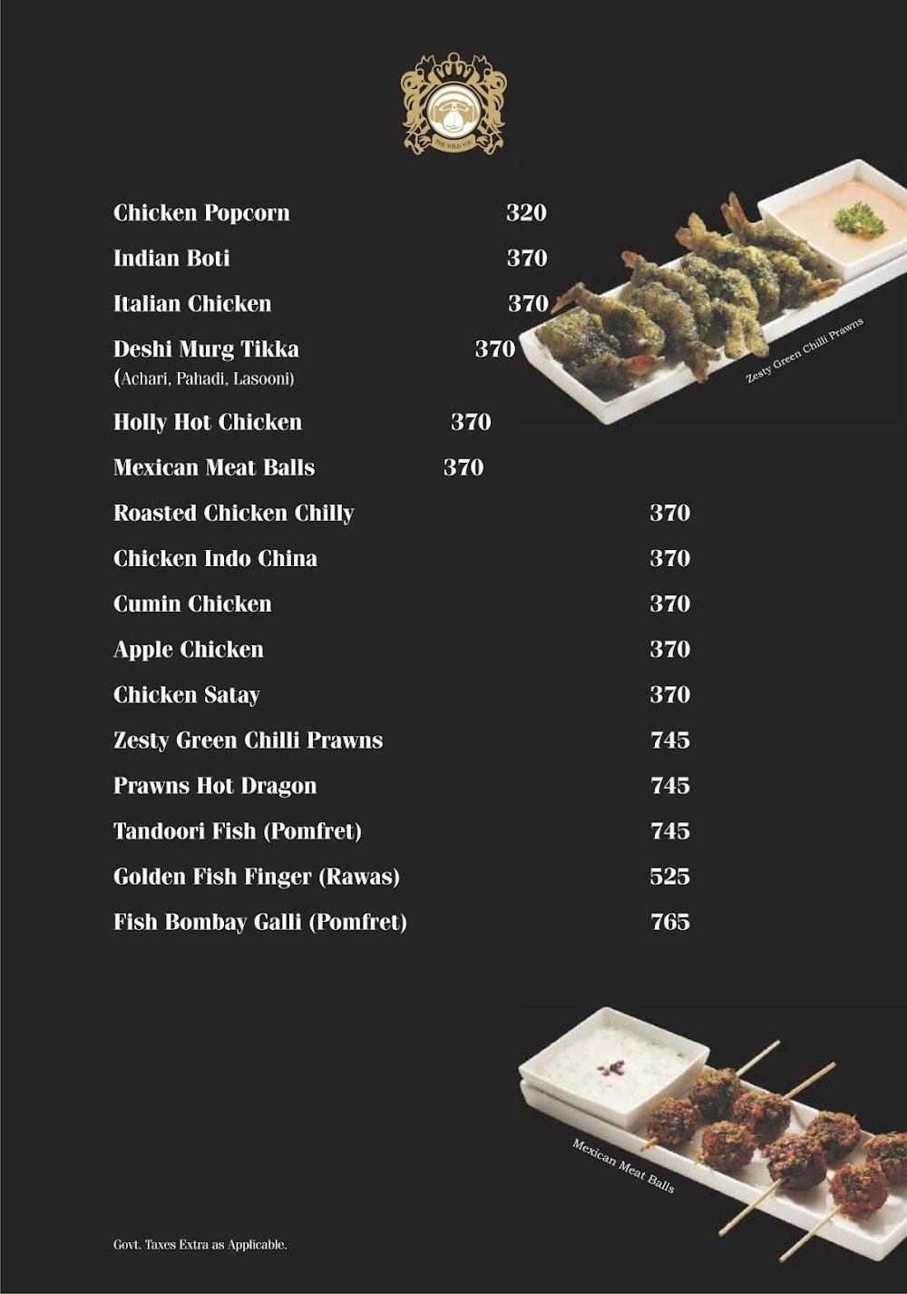 Brass Monkey menu 1
