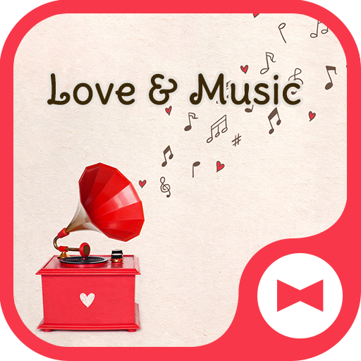 Wallpaper Love & Music Theme Icon