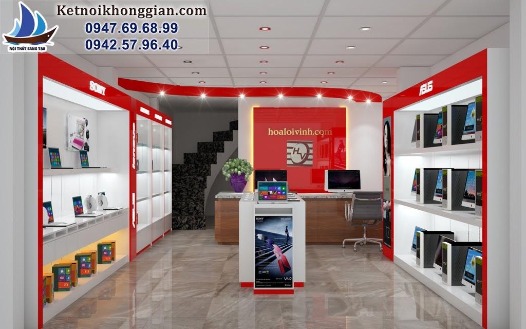 thiết kế shop máy tính công nghệ