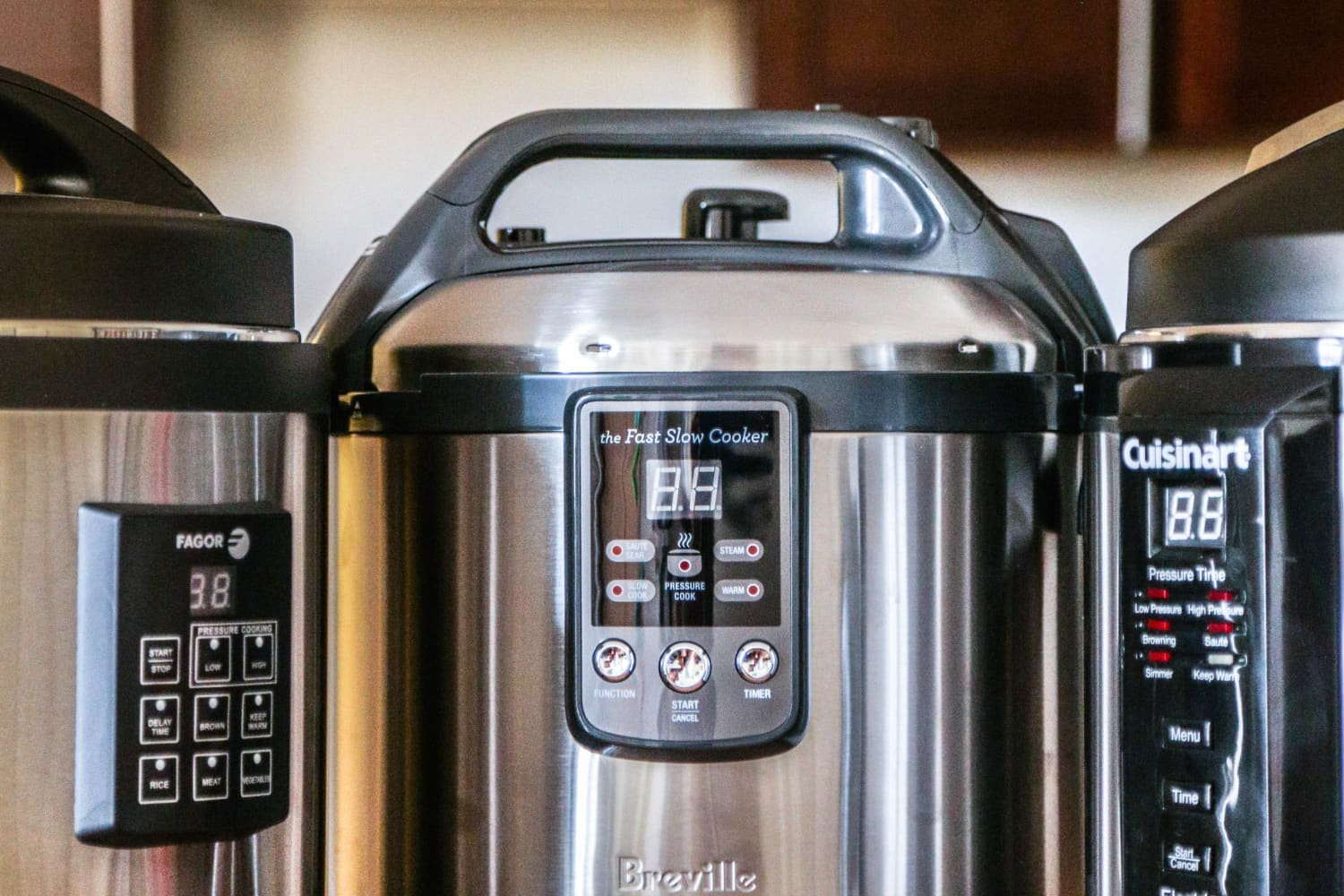 Stainless steel pressure cookers are more recommended since many cheap aluminium models can be easily deformed. Source:The Kitchn