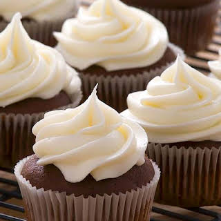 Espresso Cupcakes, Ganache, White Chocolate Frosting.