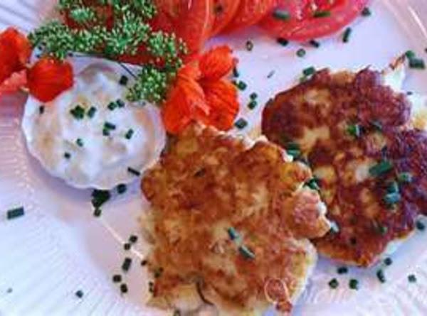 Crab Fritters With Onion Cilantro Cream Recipe