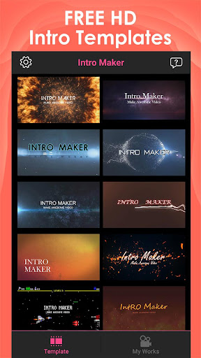 Intro Maker for YouTube - music intro video editor 2.2.1 screenshots 1