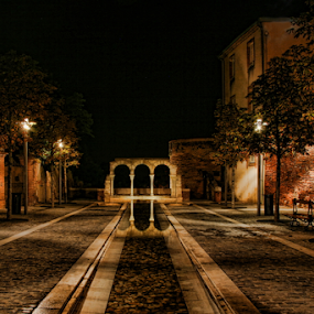 Albi by night by Dominic Jacob - City,  Street & Park  Night ( night photography, france, night, albi, nightscape )
