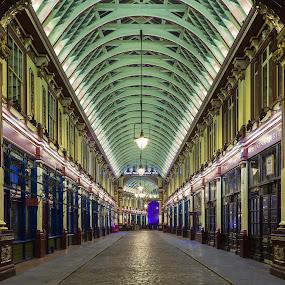 Leadenhall Market, London by Augustin Galatanu - City,  Street & Park  Markets & Shops ( arhitecture, arch, london, street, leadenhall market, city )