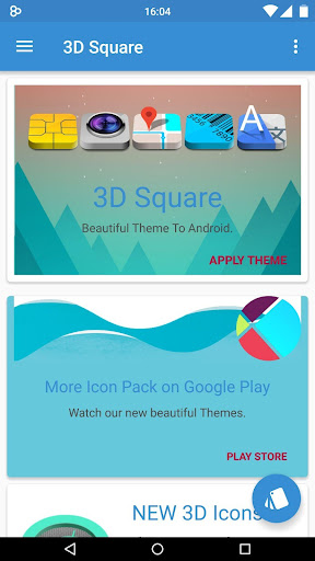 Nougat 3D - icon pack Theme HD screenshots 2