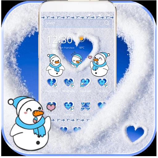 Cute Snowman Snow Winter Theme