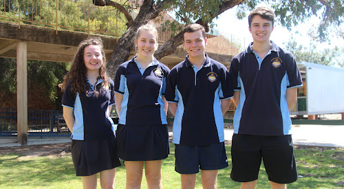 Incoming Narrabri High School captains and vice-captains - vice-captain Jenna Baxter, captains Georgia Goodhew and Layten Smith and vice-captain Matthew Nash.