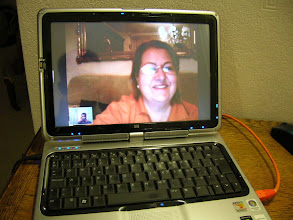 Photo: Talking with my mother through skype. Today, 1500km (Cehegín-SP to HastingsUK) are really near.