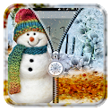 Snowman Zipper Lock Screen icon
