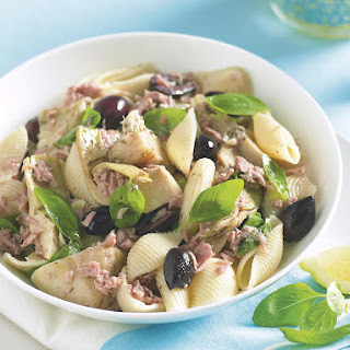 Tuna, Artichoke and Olive Pasta.