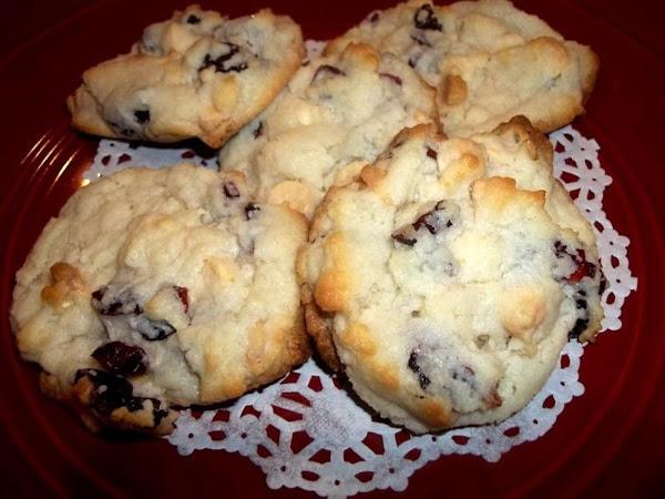Cranberry-white Chocolate Cream Cheese Cookies Recipe