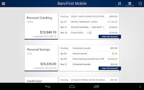 BancFirst Mobile Banking- screenshot thumbnail