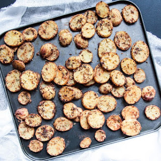 Easy & Light Baked Baby Potato Chips.