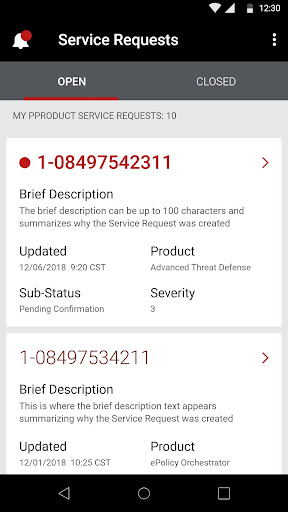 McAfee Enterprise Support screenshot 2