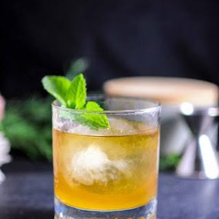 Apricot and Honey Bourbon Sour Cocktail.