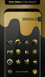 Golden : Icon Pack Screenshot