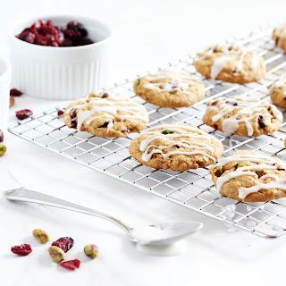 Pistachio Cranberry Christmas Cookies
