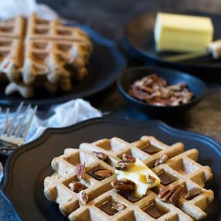 Paleo Banana Flour Waffles.