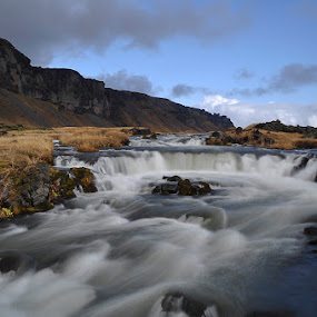 Icelandic Stream by Steve Corcoran - Landscapes Waterscapes ( water, iceland, mountains, waterfall, landscape )