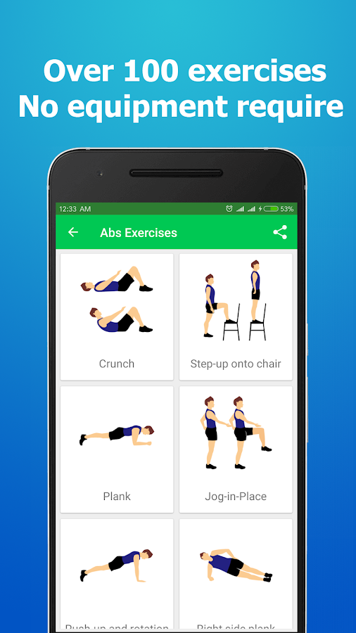 Home Workouts No Equipment Screenshot