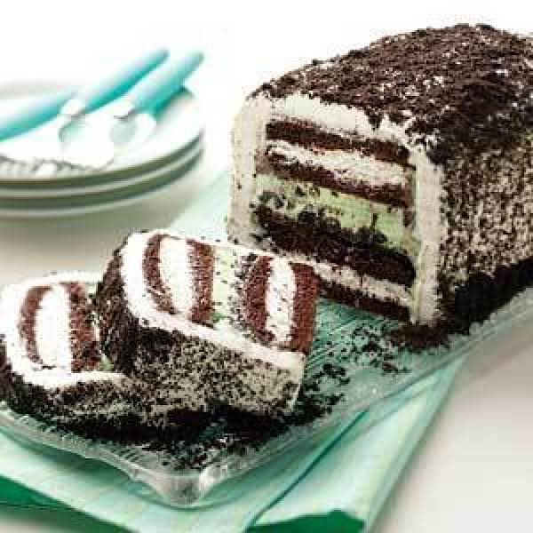 Mint Chocolate Ice Cream Cake Recipe