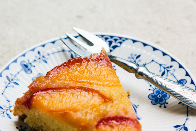 Nectarine + Polenta Upside-Down Cake Recipe
