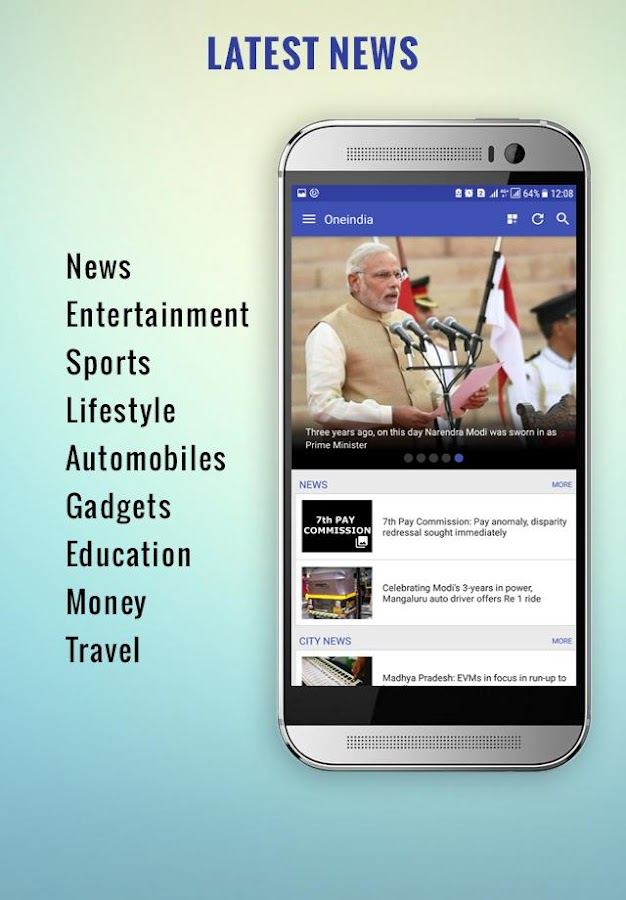 Oneindia News- screenshot