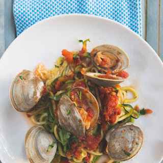 Whole30 Clams With Zucchini Noodles.