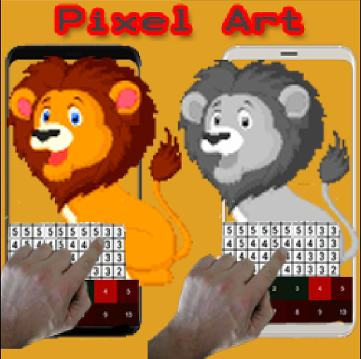 Lion Pixel Art-Animal Coloring By Number 7.0 screenshots 4