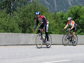 Photo: Maandag 4 juni 2012 Trainingsrit beklimming Alpe d'Huez