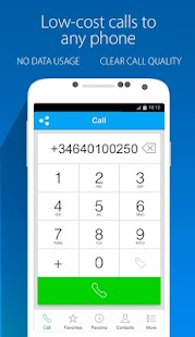 Nubefone: Low-cost calls- screenshot thumbnail