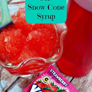 DIY Snow Cone Syrup.