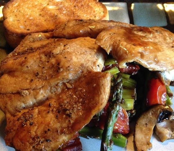 Balsamic Chicken Over Stir Fried Veggies Recipe