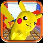 3D Pokemon Run Pikachu Surfer