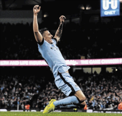 WHEW!: Stevan Jovetic   after scoring               on Monday             Photo: John Powell/  Liverpool FC via Getty Images