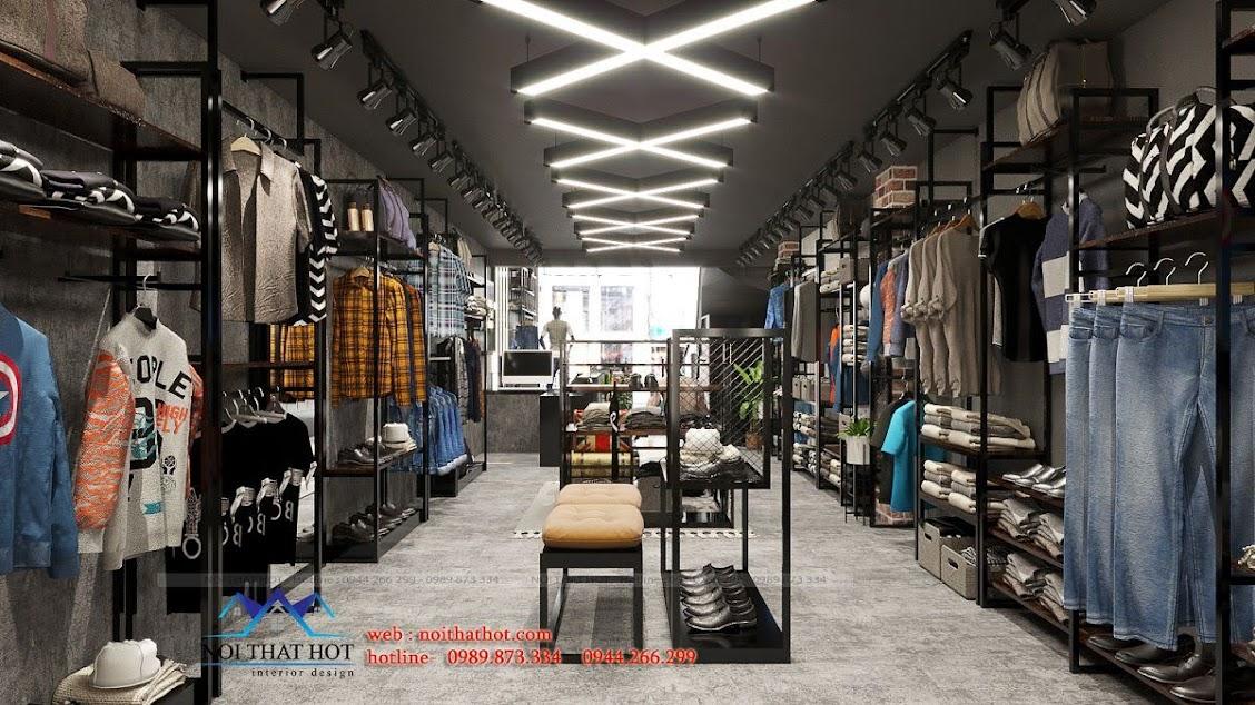 cách bố trí đèn điện cho shop thời trang