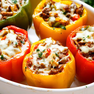Cheese Steak Keto Low-Carb Stuffed Peppers Recipe