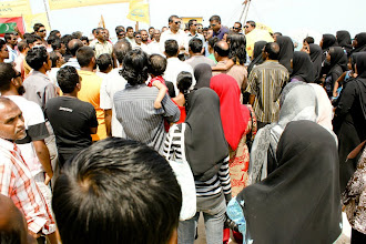 Photo: President Nasheed visits K.Kaashidhoo and Gaafaru, March 8, 2012