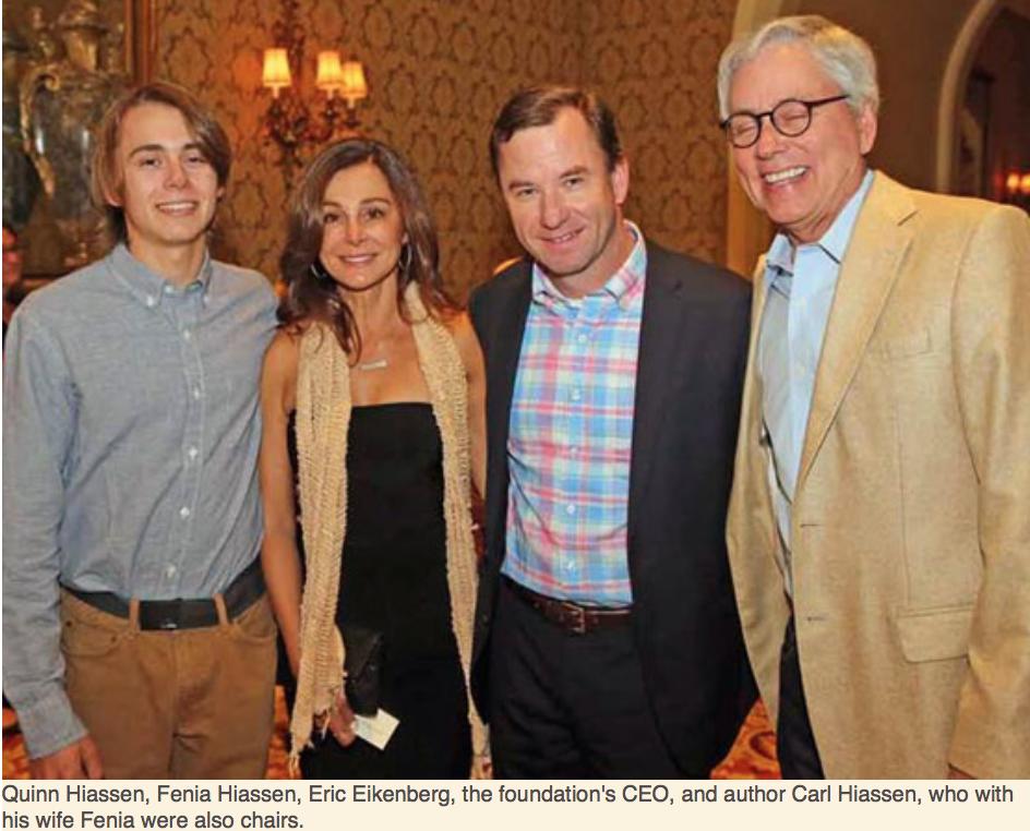 Karen Klopp, Hilary Dick article for New York Social Diary, What to Wear Everglades foundation party at thme breakers Quinn Hiassen, Fenia Hiassen, Eric Eikenberg, Carl Hiassen