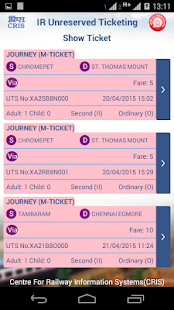 Passenger train ticket booking online