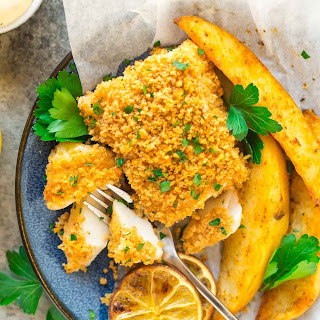 Baked Fish and Chips.