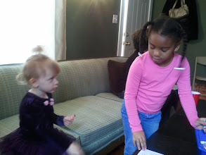 "Photo: Kaleya and her friend who Kaleya always referred to as her ""baby doll"""