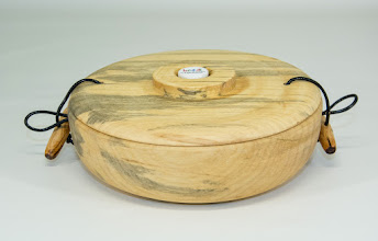 "Photo: Ellen Davis 7"" x 2"" ""Beads of Courage"" box [box elder, red cedar closure]"