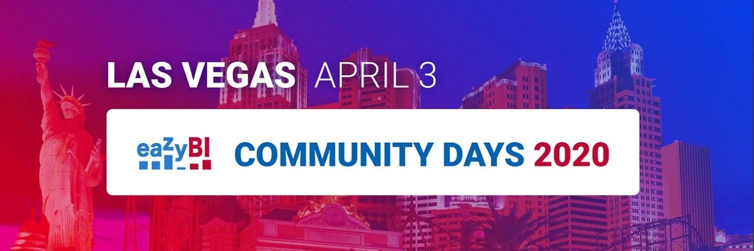 eazyBI Community Days 2020 | LAS VEGAS